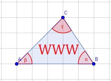 Dreieck mit dem Merkmal der Ähnlichkeit, nämlich, dass alle drei Winkel gleich sind