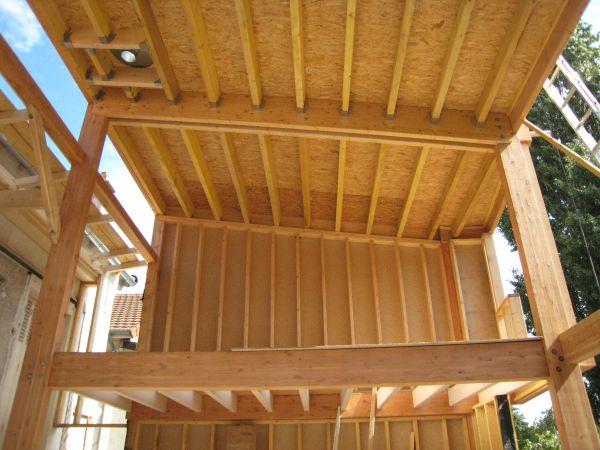 la structure poteau-poutre et ossature bois