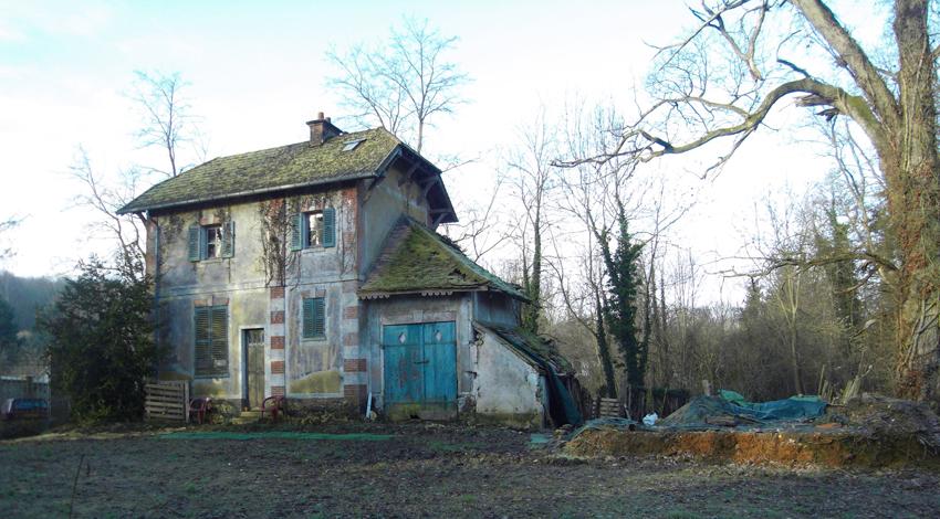 La maison existante, façade est et nord