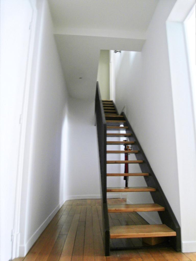 l'escalier chêne & acier au 3ème