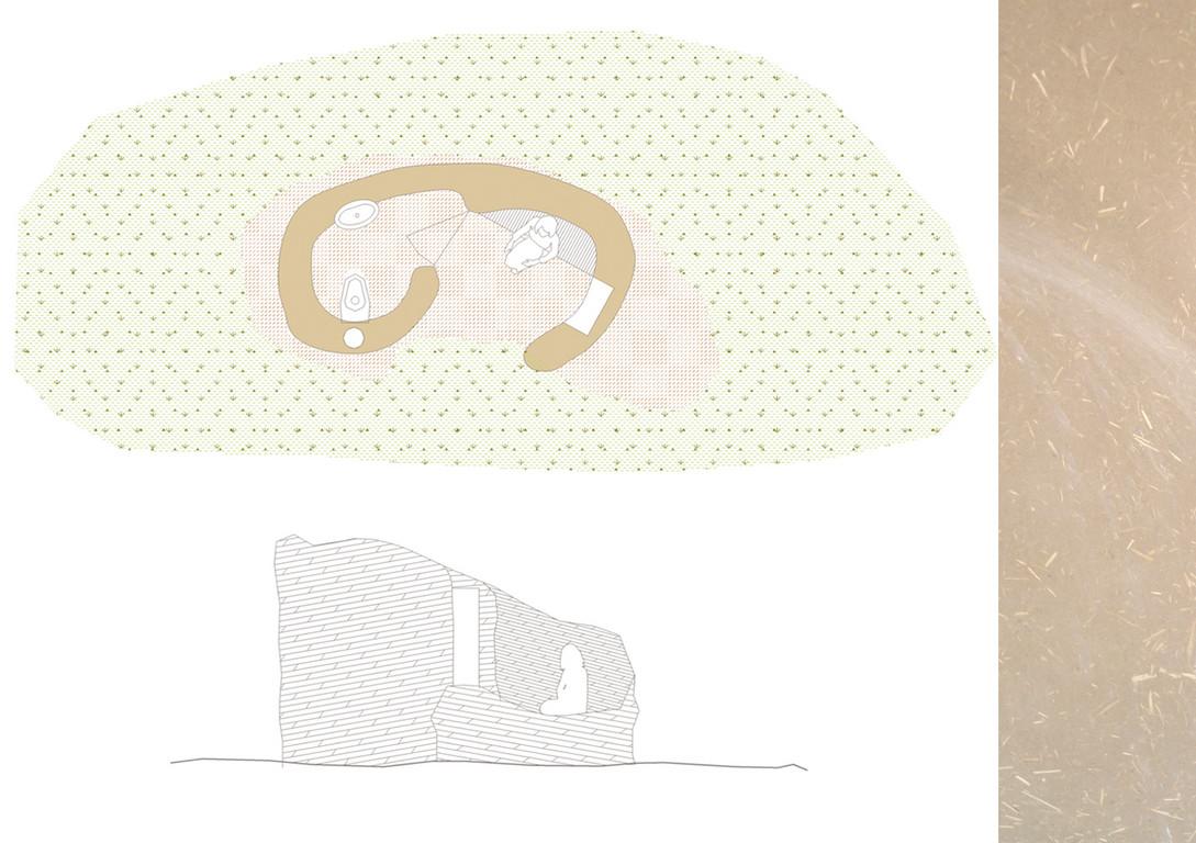 toilettes sèches, construction en terre (inspirés des cabanes des bergers en Castille)