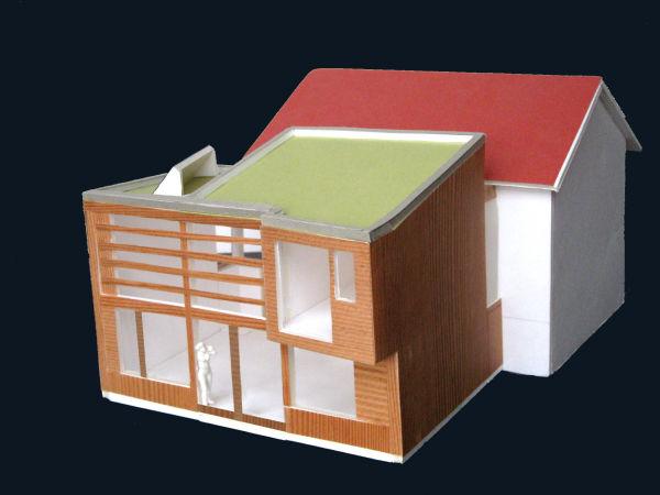le projet : une extension en bois pour doubler la surface d'un petit pavillon