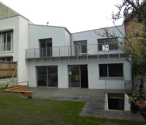 Maison bio sourc e niveau bbc meudon 92 latitude 48 for Extension maison 93