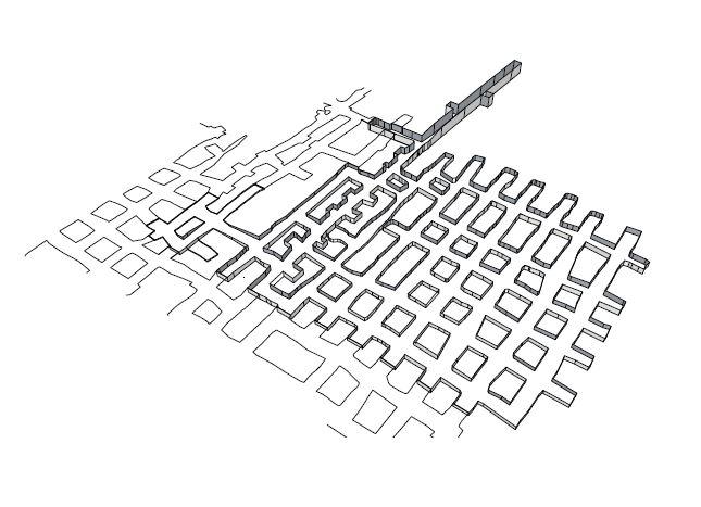 © LA CAVERNE D'ISSY , dessins Valérie Helman architecte,  Alain Guez architecte urbaniste