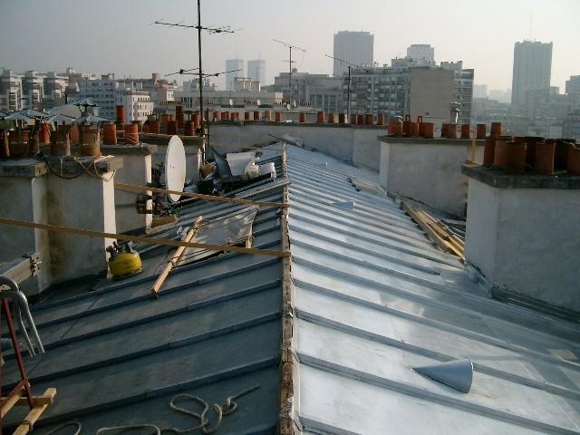 Rénovation de la toiture zinc (2006)