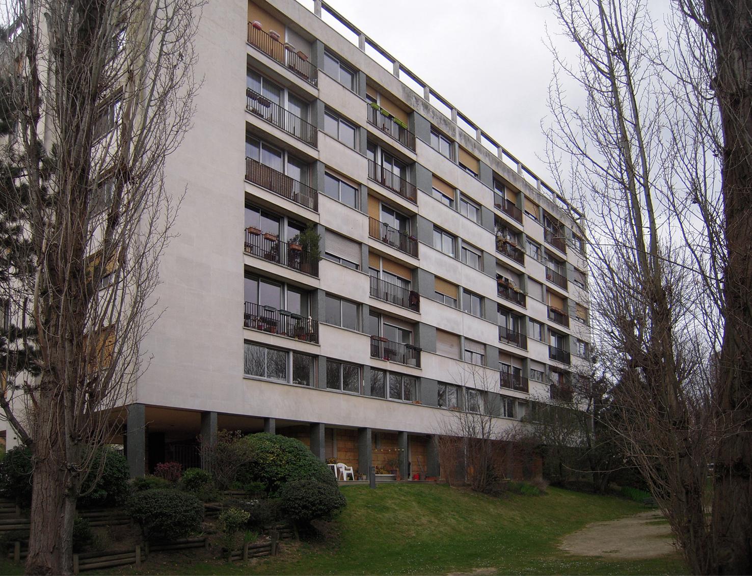 Bâtiment B avant travaux, façade arrière