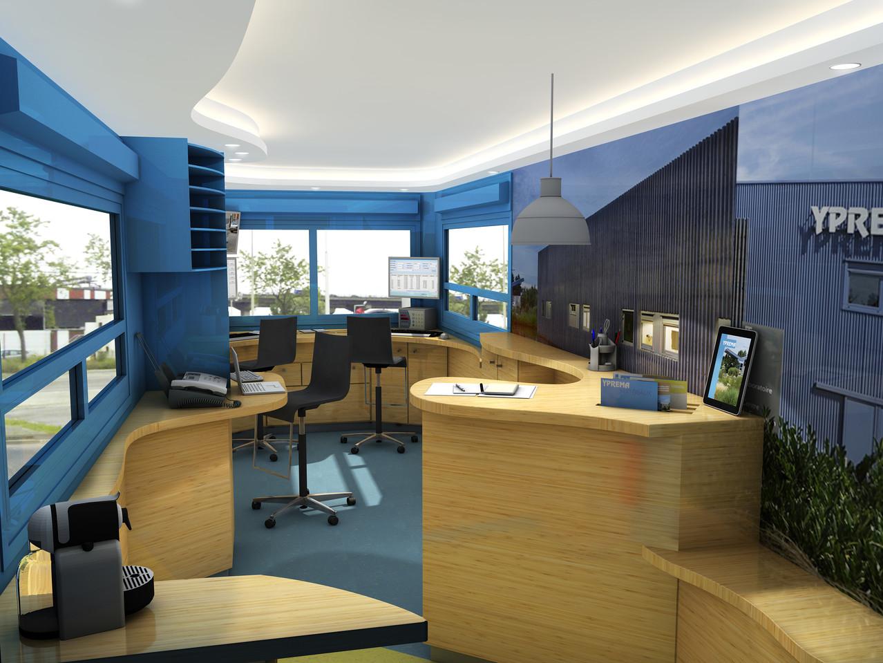 ergonomie des postes de travail dans un espace limité (2,5x5)