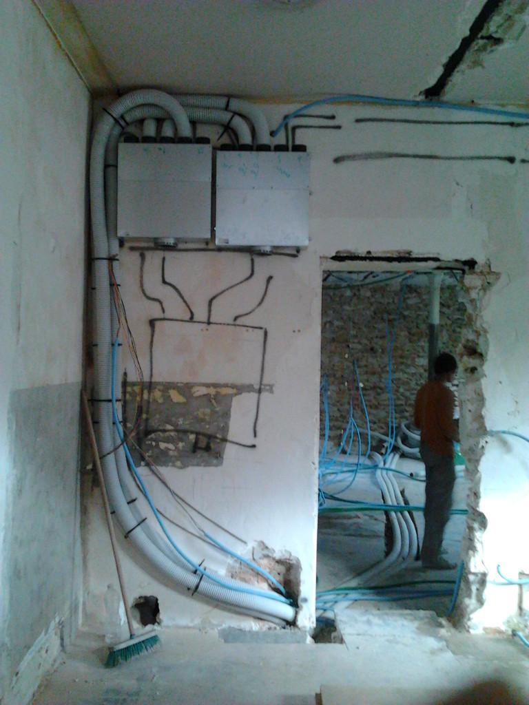 février: installation ventilation double flux