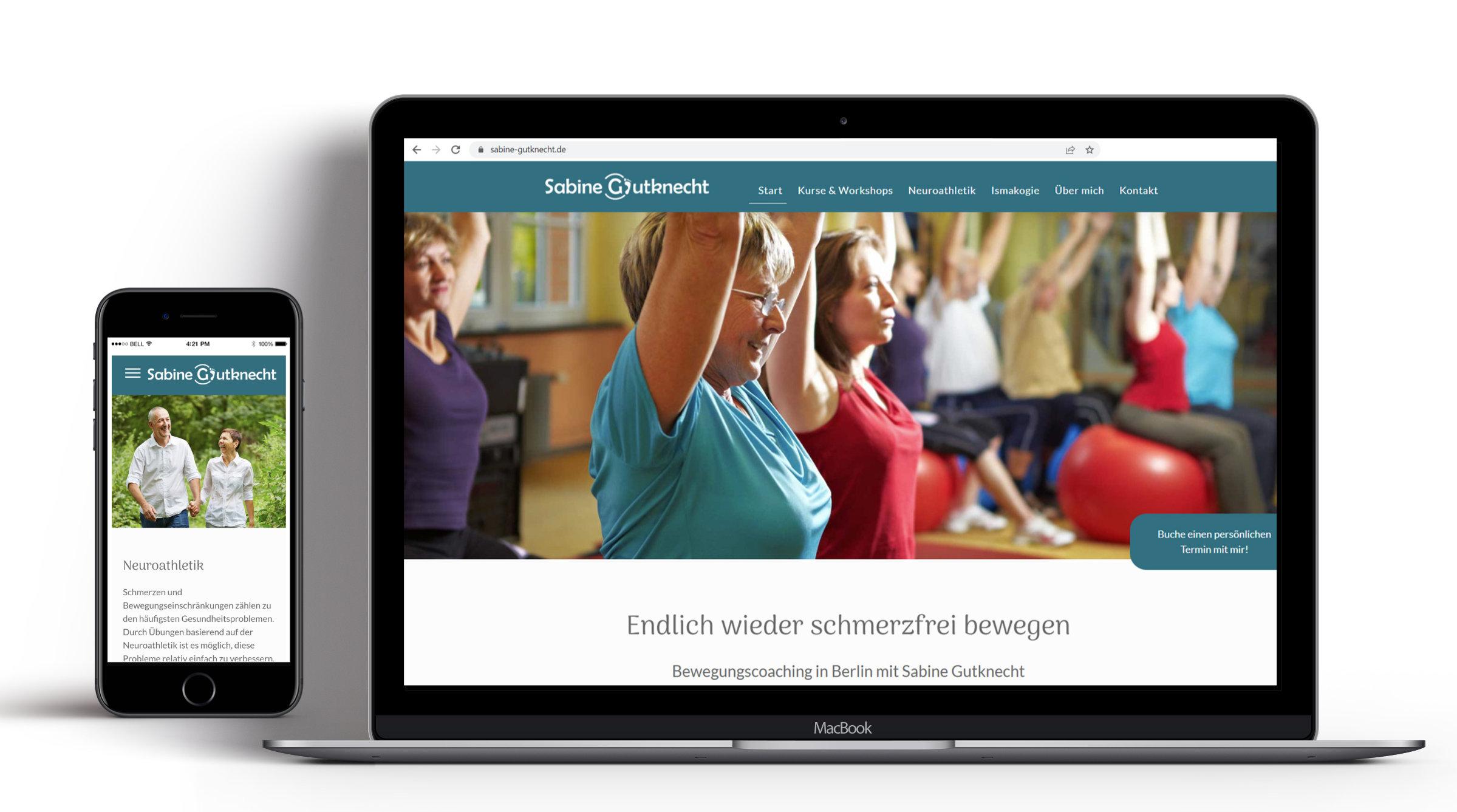 Webseite für Coach Sabine Gutknecht
