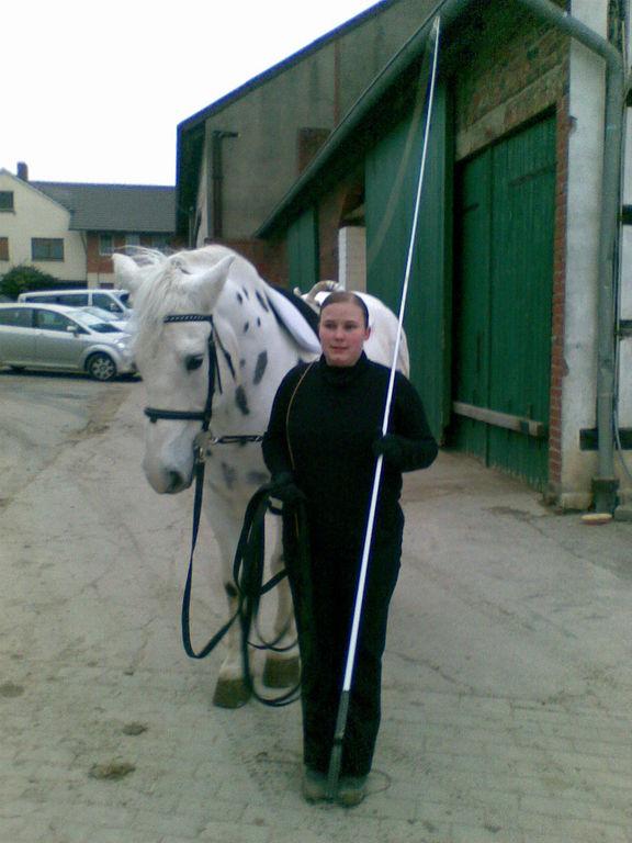 Jenny mit Pascha, unserem größten Dalmatiner