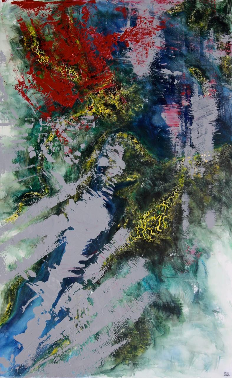 Christian Feig, Nil, 2013, aus der Serie: Europa 2087, Acryl auf Leinwand, 180 x 112 cm
