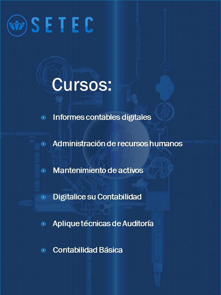 Más información  administrativo@setec.co.cr