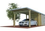 Quadro Design Carport mit Abstellraum aus Holz online mit Preis berechnen