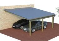 Multi Pultdach Doppelcarport aus Holz online mit Preis berechnet
