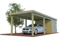 Multi Carport aus Holz mit Abstellraum online mit Preis berechnet