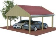 Multi Satteldach Doppelcarport aus Holz online mit Preis berechnet