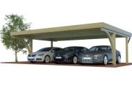 Dreiercarports mit und ohne Abstellraum