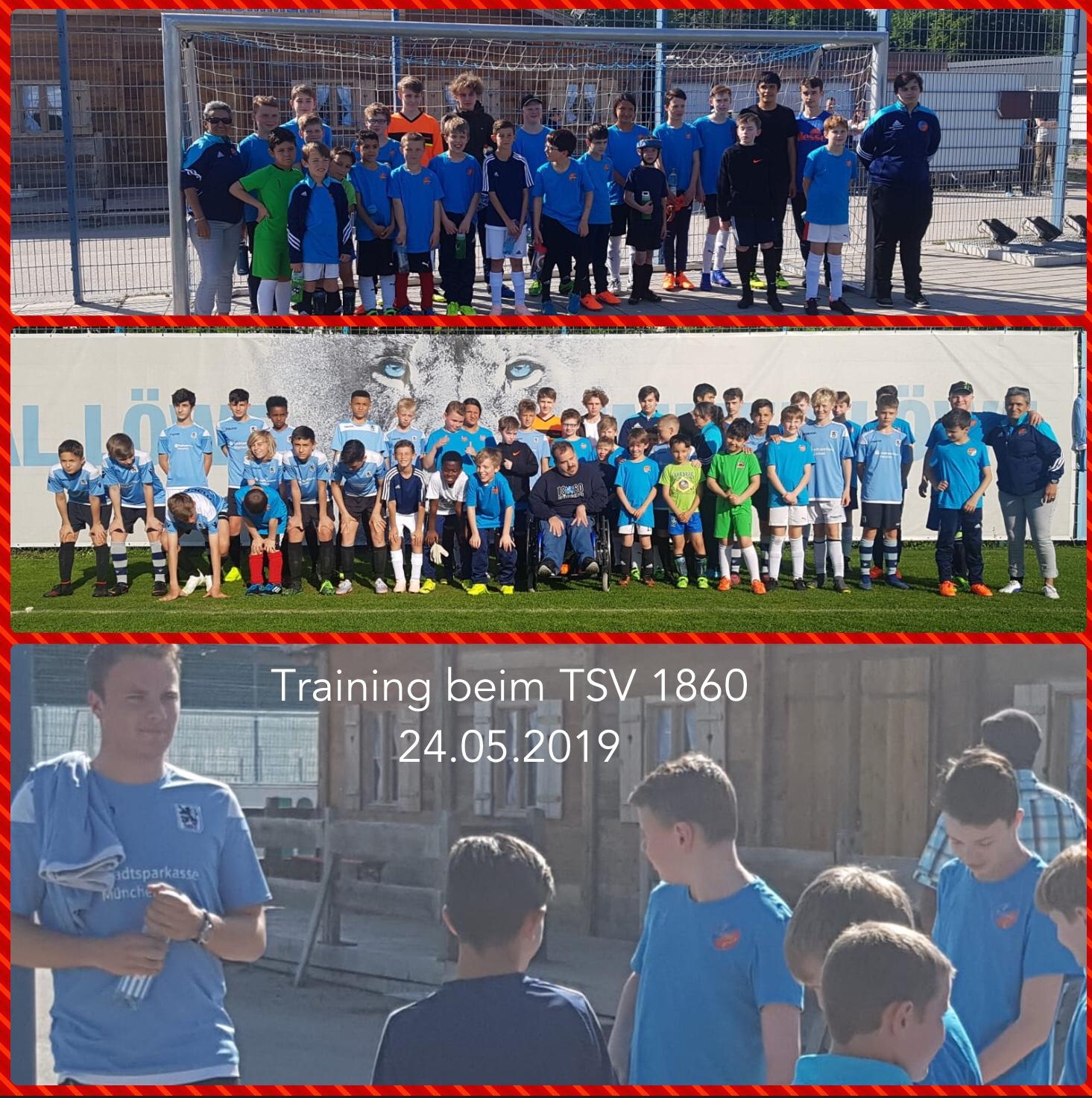 Training bei der U12 des TSV 1860