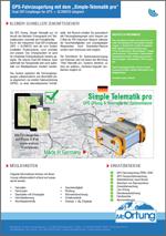 Simple Telematik pro  (GPS Ortung, Telematik)