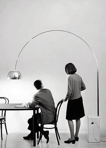 Achille Castiglioni, Pier Giacomo Castiglioni, Lampada Arco, 1962