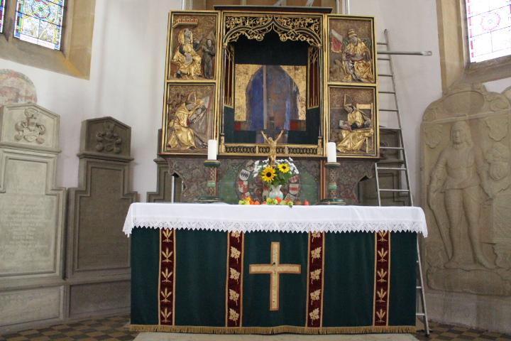 Kirchenväteraltar - Leo fehlt noch