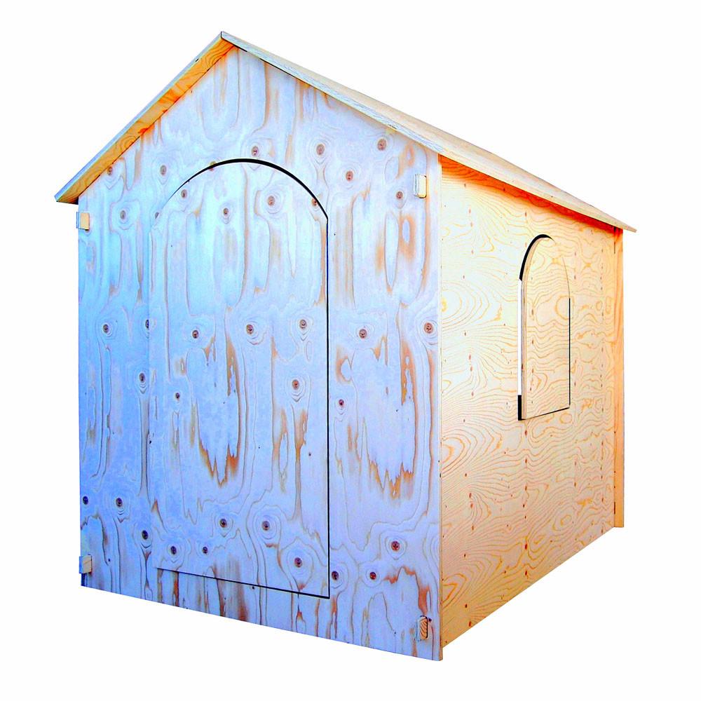 PLAYHOUSE:Casetta in legno di abete utilizzabile sia come casetta da gioco  sia come ricovero attrezzi da giardino