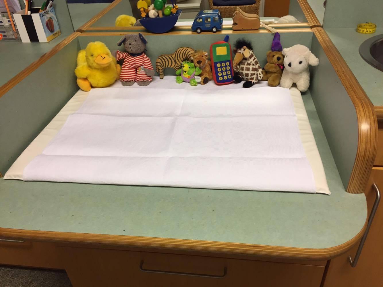 Unser Wickeltisch für unsere kleinsten Patienten