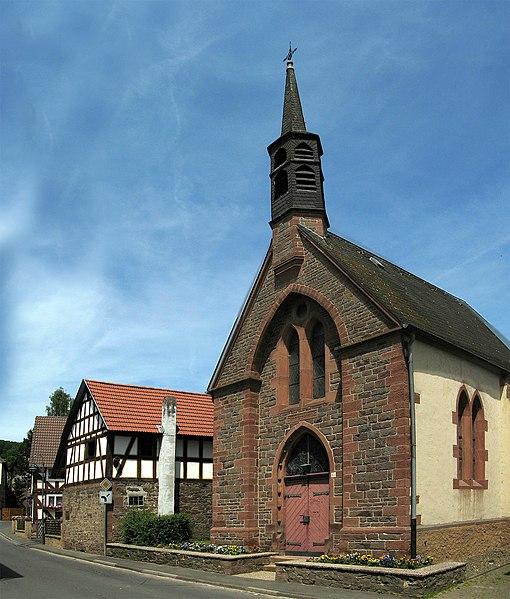 Kirche Hermershausen, Bildquelle: Andreas Trepte, Wikipedia