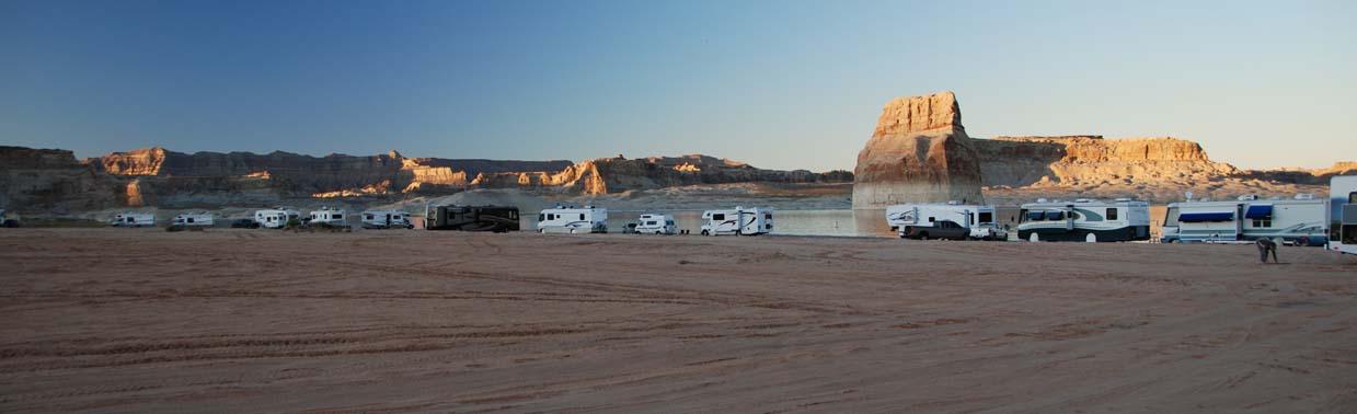 Camping Lone Rock - Lake Powell - so campt man hier