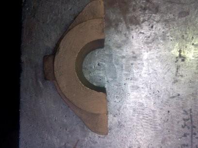 Gussfehler aus Bronze vor der Auftragsschweißung