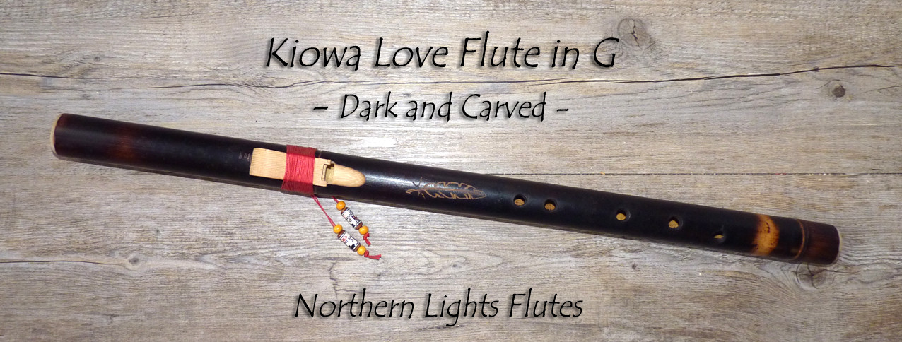 Kiowa Love Flute in G - Dark and Carved