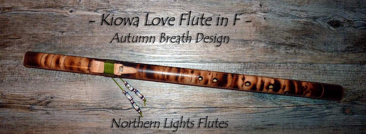 Kiowa Love Flute in F Autumn Breath Design