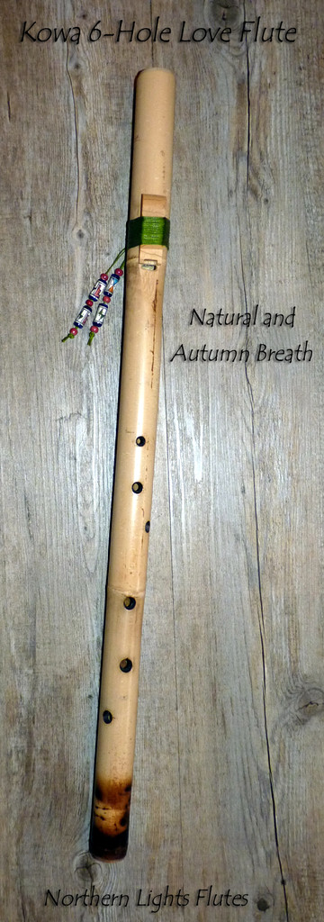 Kiowa 6-Hole Love Flute - Natural and Autumn Breath from Northern Lights Fluten