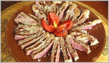 Carne de buey a la brasa