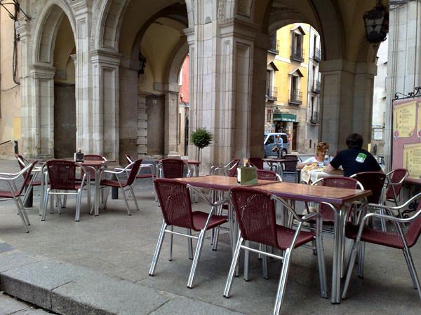 Terraza del Restaurante Los Arcos de Cuenca