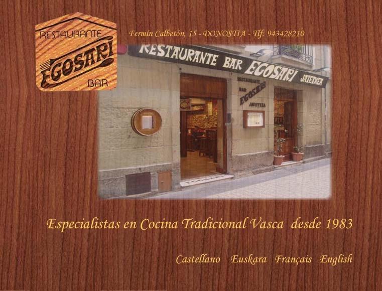 Restaurante Bar Egosari en Donosti