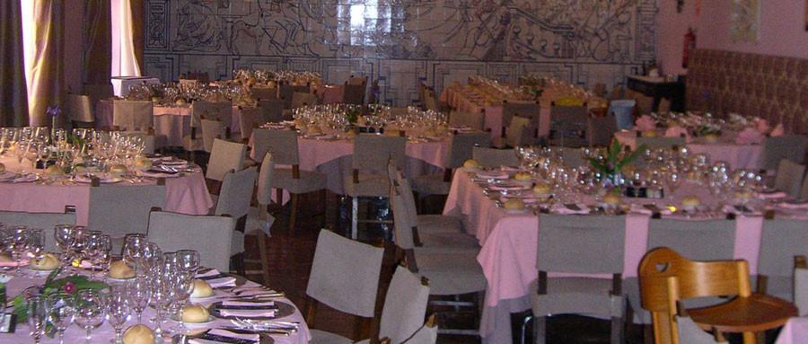 Salón para celebraciones del Parador de Cuenca