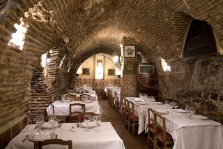 Salones cueva del Restaurante Botín
