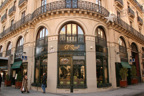 Fachada Restaurante El Real de Zaragoza