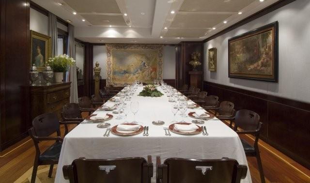 Mesas para celebraciones en el restaurante Tubal de Tafalla en Navarra