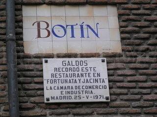 Calle Cuchilleros de Madrid restaurante Botín