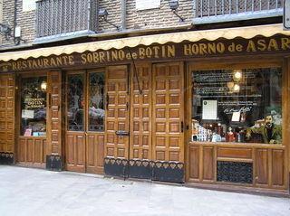 Restaurante Botín en Madrid