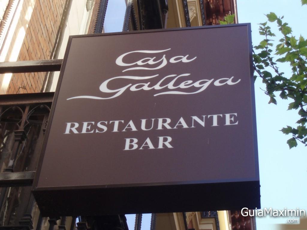 Cartel del Restaurante Casa Gallega