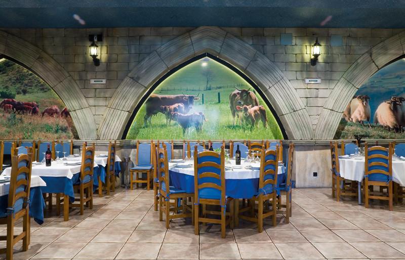 mesas restaurante asador Olave