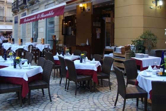 Terraza del restaurante El Rescoldo de Málaga