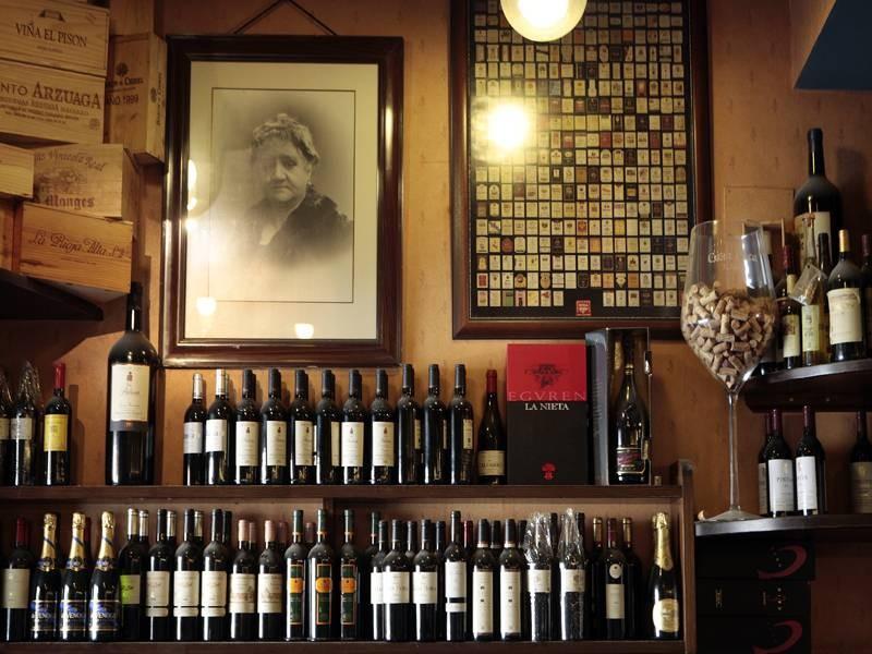 Bodega de vinos del restaurante Casa Paca de Salamanca