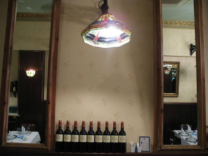 Bodega de vinos del retaurante