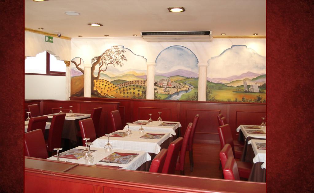 Mesas del Ristorante Pizzería El Italiano de Benidorm