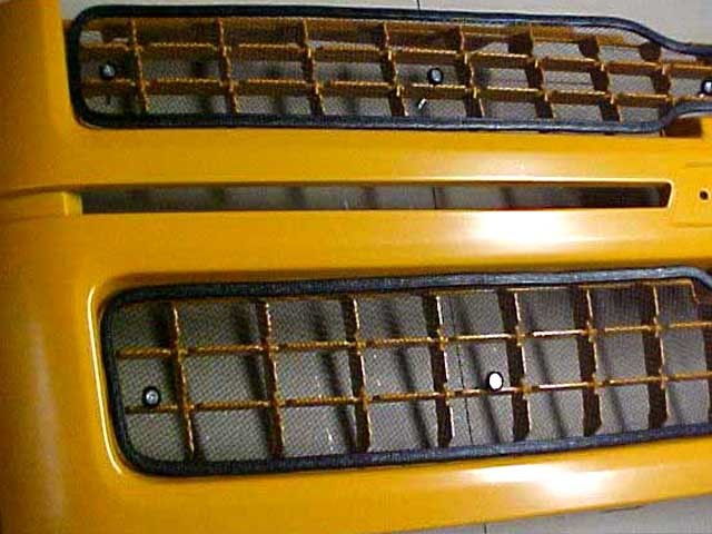 Chevy Black Metal Grille Inserts