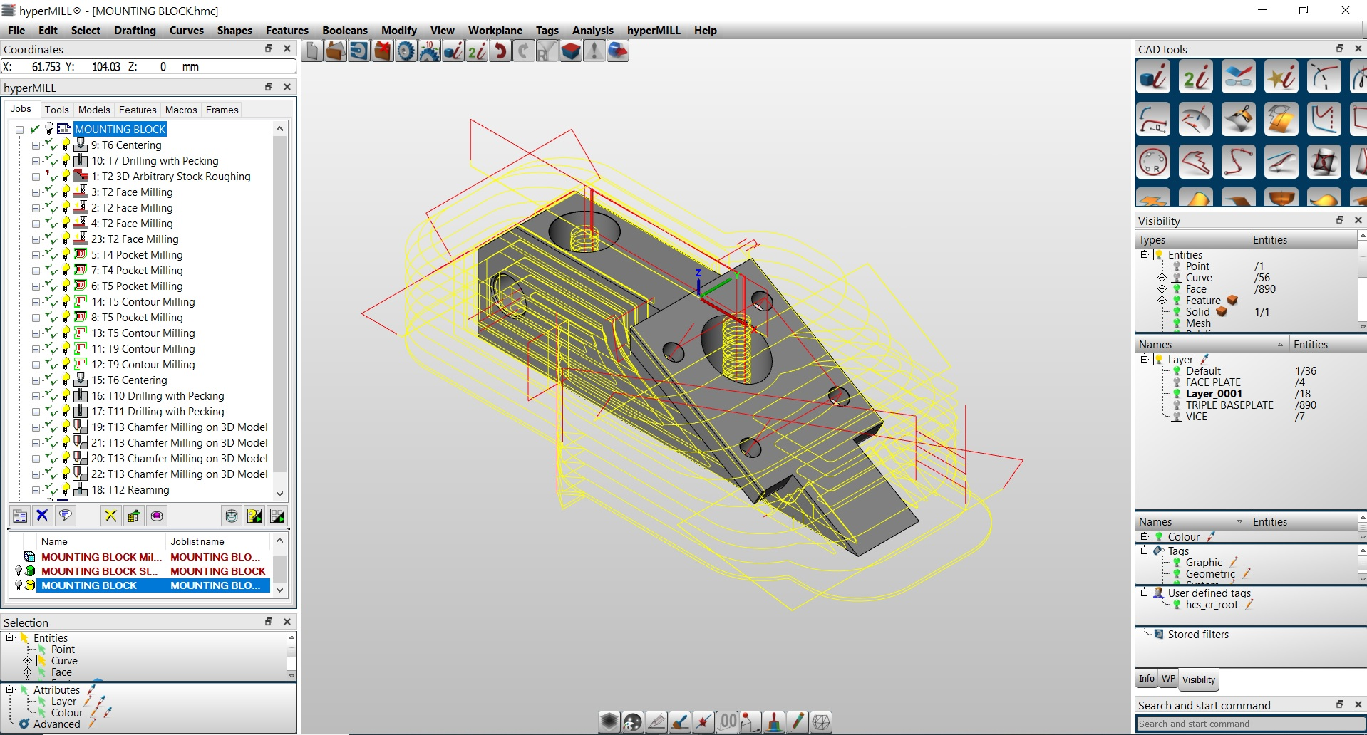 2. Our CAD/CAM software allows us to generate optimum toolpaths . . . .